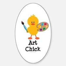 Art Chick Oval Decal