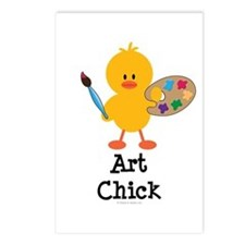 Art Chick Postcards (Package of 8)