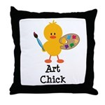Art Chick Throw Pillow