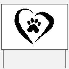 Heart Yard Sign