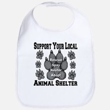 Support Your Local Animal She Bib