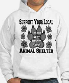 Support Your Local Animal She Hoodie