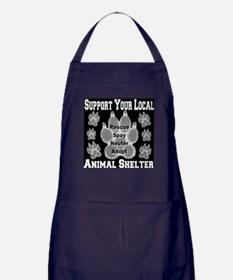 Support Your Local Animal She Apron (dark)
