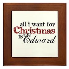 Edward Cullen for Christmas Framed Tile