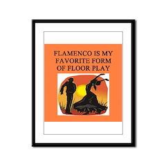 flamenco music dance Framed Panel Print
