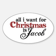 Jacob Black for Christmas Oval Decal