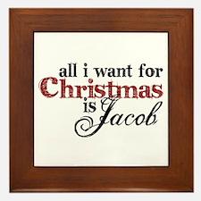 Jacob Black for Christmas Framed Tile