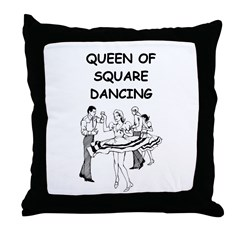 line or square dance Throw Pillow