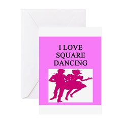 line or square dance Greeting Card