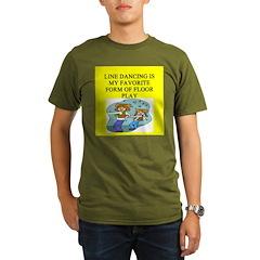 line or square dance Organic Men's T-Shirt (dark)