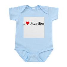 I Love Mayflies Infant Creeper