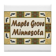 Maple Grove Loon Tile Coaster