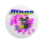 Bingo 3D Mouse Ornament (Round)
