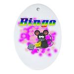 Bingo 3D Mouse Oval Ornament