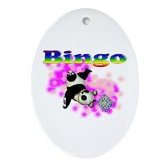 Bingo Panda Spores Oval Ornament