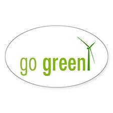 Go Green Oval Bumper Stickers