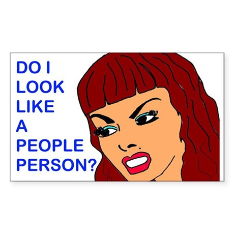 People Person 3 Rectangle Sticker