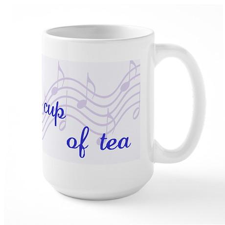 Music is my cup of tea Large Mug