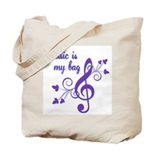 Music is my bag Tote Bag