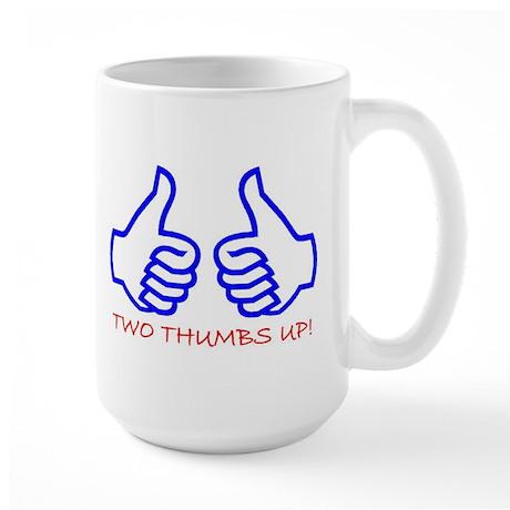 TWO THUMBS UP! Large Mug