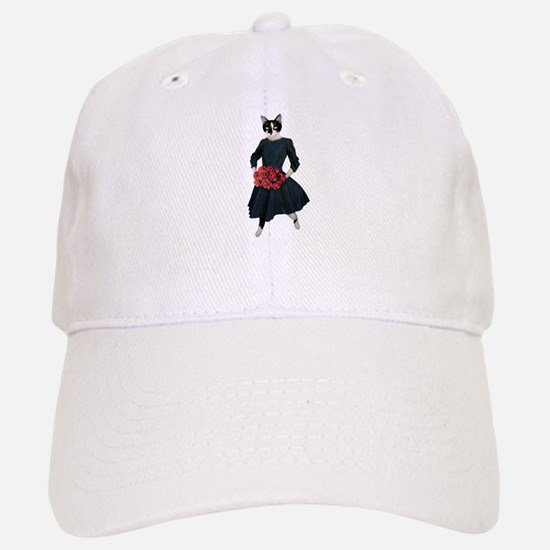 Cat Dress Roses Baseball Baseball Baseball Cap