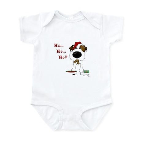 Jack Russell Terrier Santa Infant Bodysuit