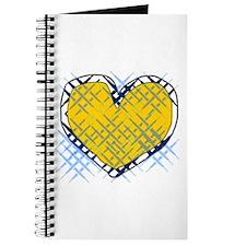 Criss Crossed Golden Heart Journal
