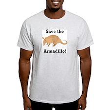 Save the Armadillo Ash Grey T-Shirt