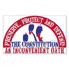 An Inconvenient Oath Rectangle Decal