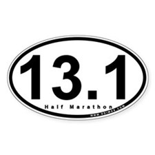 Half Marathon 13.1 Miles Oval Decal