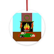 Cozy Christmas Ornament (Round)