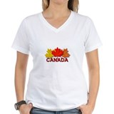 Canada Womens V-Neck T-shirts