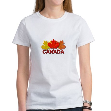 Canadian Maple Leaves Women's T-Shirt