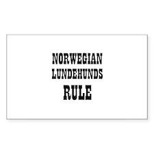 NORWEGIAN LUNDEHUNDS RULE Rectangle Decal