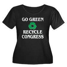 Recycle Congress - Women's Plus Dark T-Shirt