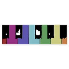Piano Keys Bumper Car Sticker