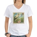 Baby Girl Announcement Women's V-Neck T-Shirt