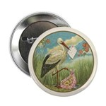 """Baby Girl Birth 2.25"""" Button (10 pack)"""