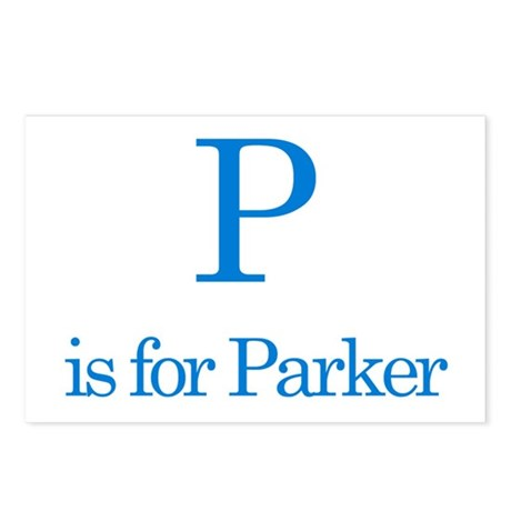 P is for Parker Postcards (Package of 8)