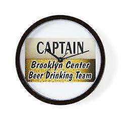 Brooklyn Center Beer Drinking Team Wall Clock