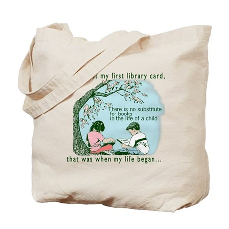 Life begins with reading Tote Bag