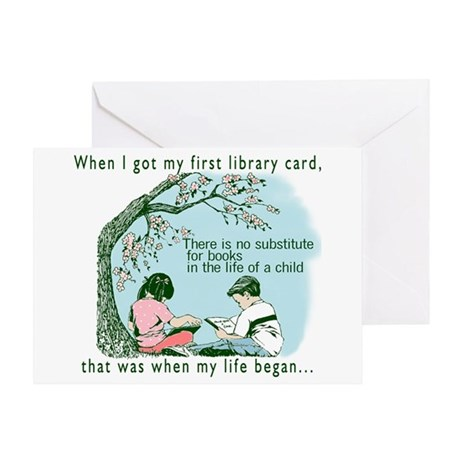 Life begins with reading Greeting Card