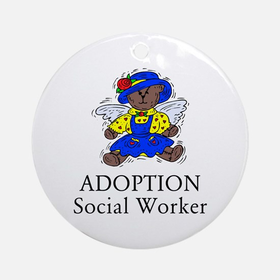 Adoption SW Bear Angel Ornament (Round)