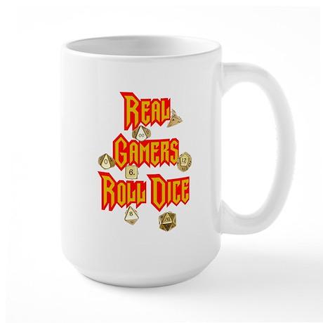 Real Gamers Roll Dice Large Mug