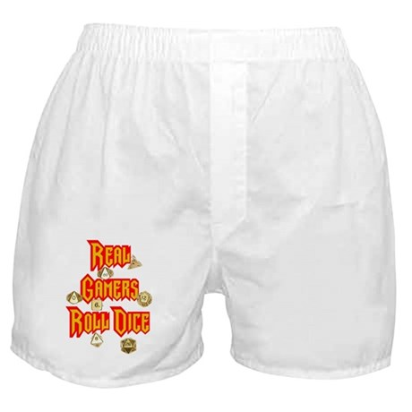 Real Gamers Roll Dice Boxer Shorts