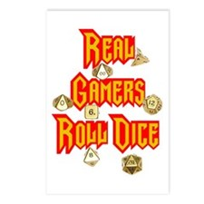 Real Gamers Roll Dice Postcards (Package of 8)