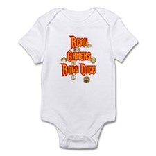Real Gamers Roll Dice Infant Bodysuit