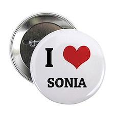 I Love Sonia Button