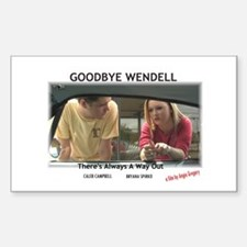 Goodbye Wendell Rectangle Decal