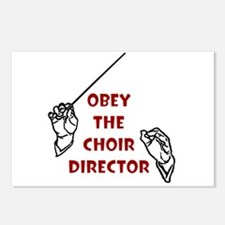 Obey the Choir Director Postcards (8)